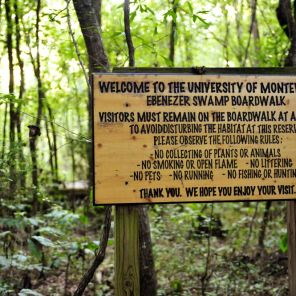 Ebenezer Swamp welcome sign (contributed)