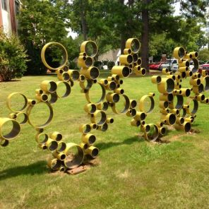 A bike rack sculpture on UM campus- a UM Green Fund project (contributed)