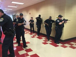 Police, fire and public health officials in Jefferson County participated in the exercise. (Brittany Faush-Johnson /Alabama NewsCenter)