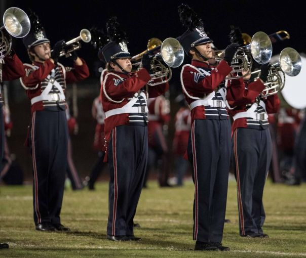 High school band performs. (contributed)