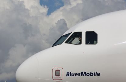 JetBlue A321 Ð, the first Airbus aircraft produced at Airbus U.S. Manufacturing Facility in Mobile. (Mike Kittrell/Alabama NewsCenter)