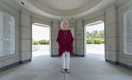 Betty Mize at Ola Lee Mize Patriots Park in Gadsden (Bernard Troncale/Alabama NewsCenter)
