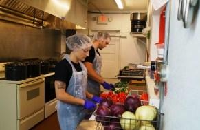 Allie Clark and Colin Woltmann flavor their hummus with fresh ingredients, not powders. (Mark Sandlin/Alabama NewsCenter)
