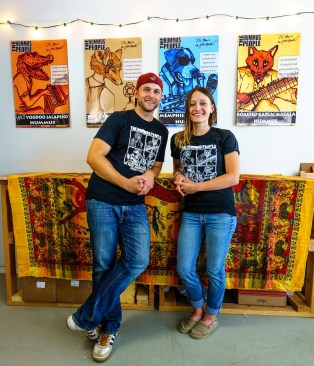 Colin Woltmann and Allie Clark have created four distinct flavors of hummus for their company, The Hummus People, and they're working on more. (Mark Sandlin/Alabama NewsCenter)