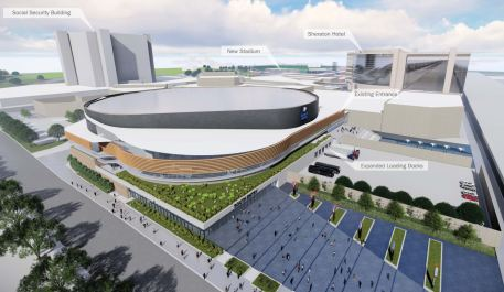 A proposed new look for the Legacy Arena at the BJCC. (Populous)