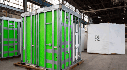 "BLOX builds medical ""modules"" that plug into health care facilities under construction. (BLOX)"