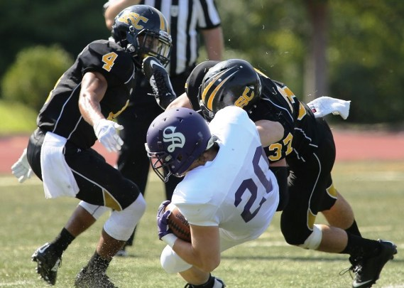 Experienced defenders Christian Burlock and Matt Franks are two reasons to feel good about this year's Birmingham-Southern football team. (Birmingham-Southern College Athletics)