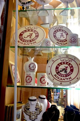 Tide fans in Jerusalem don't have to go online to order a crimson-and-white Alabama clock, thanks to Hani Imam's store. (Karim Shamsi-Basha/Alabama NewsCenter)