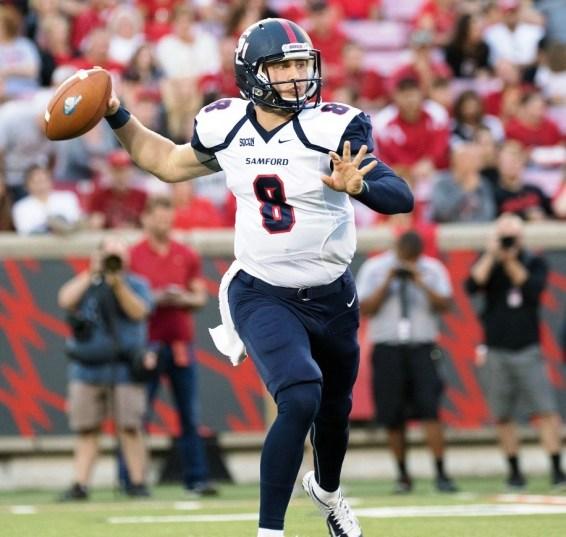 Coach Chris Hatcher has confidence in his quarterback, Devlin Hodges. (Samford Athletics)