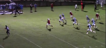 The first of two 99-yard touchdowns Brad Anderson scored in the same game. (Solomon Crenshaw Jr. / Alabama NewsCenter)