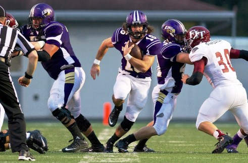The play of quarterback Jacob Tucker will be crucial to the success of the University of North Alabama Lions this year. (UNA Athletics)