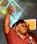 Marquetta Hill-King holds the keys to the Rescue Ship. (Solomon Crenshaw Jr. / Alabama NewsCenter)