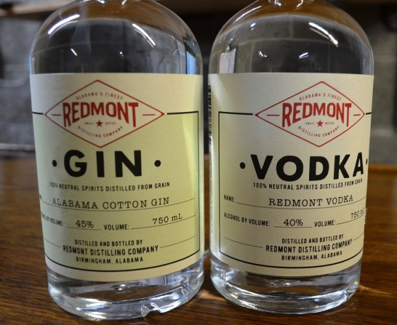 Redmont Distilling started out making clear spirits, Alabama Cotton Gin and Redmont Vodka. (Michael Tomberlin / Alabama NewsCenter)