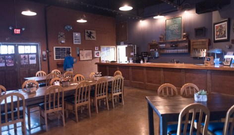 The tap room at the Back Forty Beer Co. in Gadsden. (Bernard Troncale / Alabama NewsCenter)