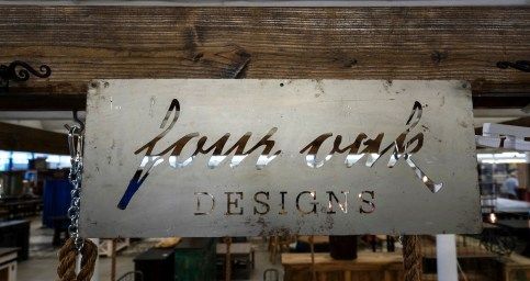 Four Oak Designs makes handcrafted swings in several sizes, plus tables and flooring. (Mark Sandlin/Alabama NewsCenter)