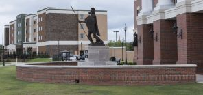 Troy University (right) with the Marriott Courtyard in Phenix City, Al. (Bernard Troncale/Alabama NewsCenter)