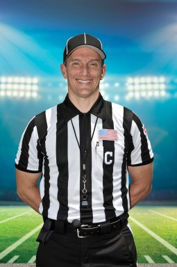 Steve Marlowe dressed for his job as an SEC referee. (contributed)