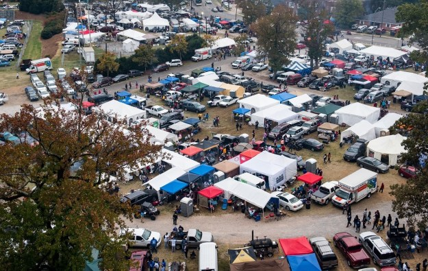 The scene outside the stadium has become such a spectacle that many in the crowd never make it inside for the game. (Nik Layman/Alabama NewsCenter)