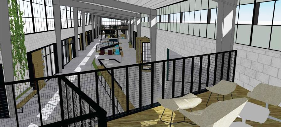 Common areas are often lost space in an office development, but Avondale Works sees it as vital and a huge selling point. (Cohen Carnaggio Reynolds)