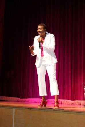 Comedian Carla Youngblood performs at the Carver Theatre. (Contributed)