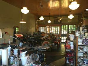 A peek inside Scott's print shop.