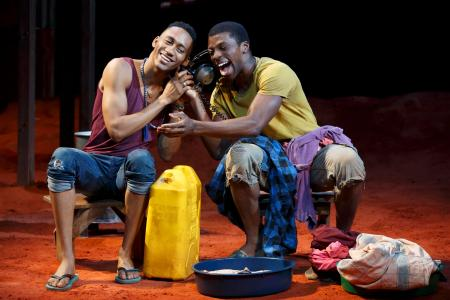 "Griffin Matthews, left, and MIchael Luyowe starred in ""Invisible Thread"" off-Broadway. (Photo/Joan Marcus)"