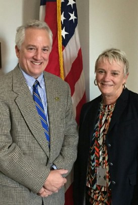 Pete Conroy, director of the Little River Canyon Center, and Olivia Barton Ferriter, deputy assistant secretary for Budget, Finance, Performance and Acquisition, Office of the Assistant Secretary, U.S. Department of the Interior. (Contributed)