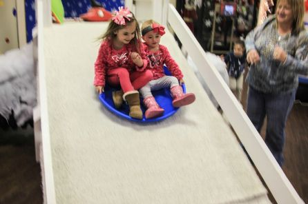 Children ages 2 through 10 will enjoy the snow slide at the Imagination Place Children's Museum. (Contributed)