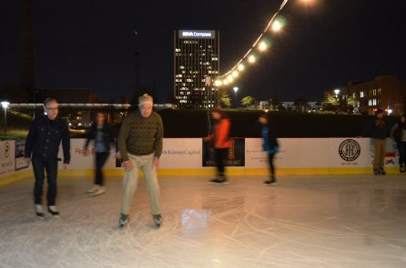 Birmingham Ice Skating in Railroad Park runs through Monday, Jan. 1. (Michael Tomberlin / Alabama NewsCenter)