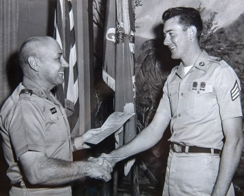 Buford Lee, right, seen during his time in the Army. (contributed)