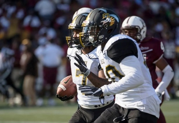 The 75th playing of the Magic City Classic was an overtime thriller in front of a record crowd with Alabama A&M coming away with a 42-41 win over Alabama State. (David Campbell/Alabama State University)