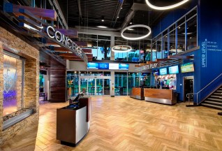 Birmingham officials are displaying a willingness to work with businesses that is paying off in announced developments such as Topgolf downtown. Pictured is the lobby of the Topgolf location in Dallas. (Michael Baxter/Baxter Imaging LLC)