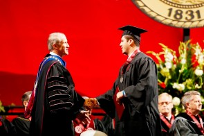 Cole Mazza was one of more than 30 Crimson Tide student-athletes graduation from the University of Alabama Saturday. (Robert Sutton/UA Athletics)
