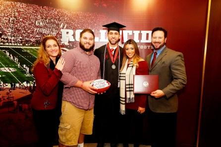 Joshua Palet was one of more than 30 Crimson Tide student-athletes graduation from the University of Alabama Saturday. (Robert Sutton/UA Athletics)