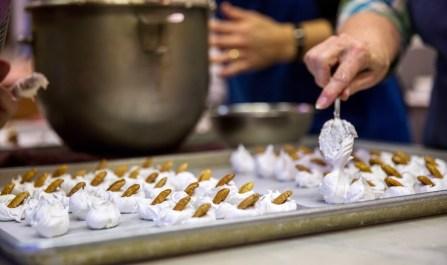 Making divinity in Punta Clara Kitchen in Point Clear. (Mark Sandlin / Alabama NewsCenter)