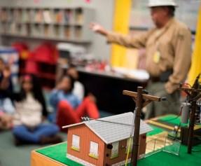 Alabama Power's Lifeliners teach schoolchildren how to stay safe around electricity. The company's Safe-T-Opolis program celebrates 30 years next month. (Christopher Jones/Alabama NewsCenter)