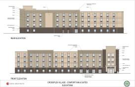 Designs for the Comfort Inn at CrossPlex Village. (Davis Architects)