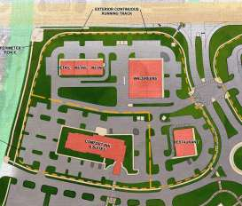 The site plan for the Comfort Inn and Walgreen's at CrossPlex Village. (Davis Architects)