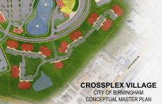 A possible future residential component to CrossPlex Village. (Davis Architects)