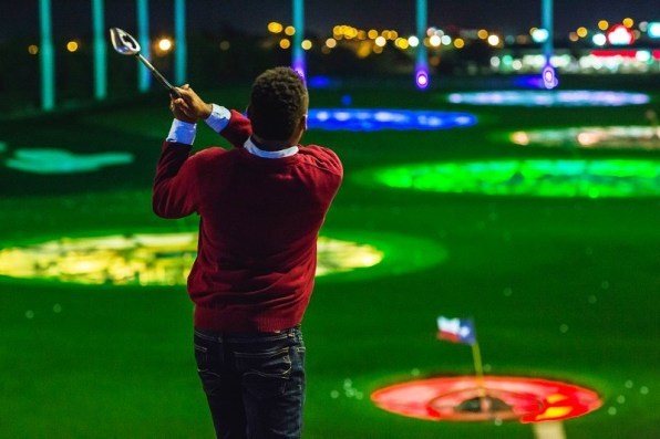 Golf is the main attraction at Topgolf. (Topgolf)