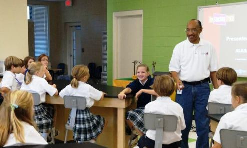 Children learn about electrical safety during a 2012 Safe-T-Opolis program at St. Ignatius. (Contributed)