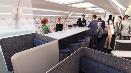 Conceptual restaurant module on a Transpose-enabled aircraft. (A3)