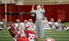 Scenes from the Crimson Tide's team practice in Tuscaloosa prior to heading to Tampa for the College Football Playoff national championship game against Clemson. (Robert Sutton/UA Athletics)