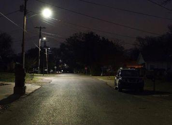 Identical Birmingham street corner after LED light upgrade. (Chris Jones/Alabama NewsC