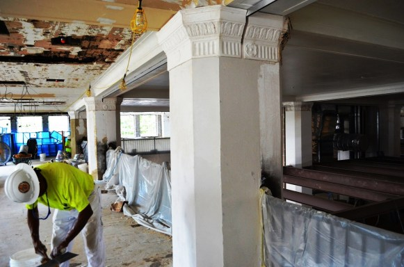 Interior of the Pizitz Building during its restoration. (Michael Tomberlin/Alabama NewsCenter)