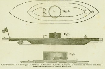 Drawings of the USS Monitor. (The Mariners' Museum & Park)
