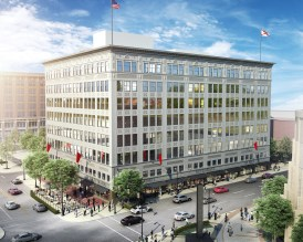 A rendering shows the renovated Pizitz building in downtown Birmingham, a major development in the city's ongoing revitalization. (Contributed)