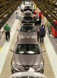 Sonata sedans roll off the Hyundai assembly line at its Montgomery plant. (Hyundai Motor Manufacturing of Alabama)