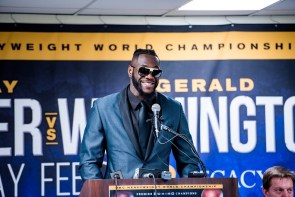 Deontay Wilder said he was showing patience and was never hurt when Gerald Washington landed some punches in the first four rounds. (Nik Layman / Alabama NewsCenter)