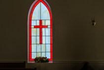 Deborah Strawn's work graces a church in Waverly. (Mark Sandlin/Alabama NewsCenter)